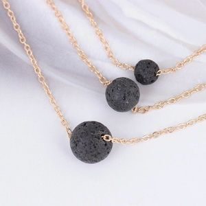 independent Jewelry - Essential oil diffuser Necklace with lava stone
